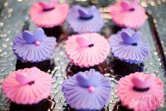 Ballerina pink and purple cupcakes