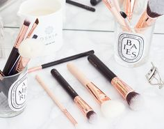 Finding a good brush is one thing. But finding a beautiful brush that is  the perfect multitasker is a whole new level of satisfying. I've rounded up  my favourite brushes to share with you today that can all be used for  multiple makeup products and purposes.