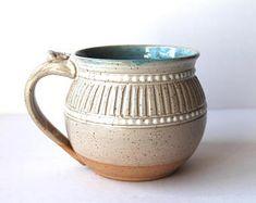 Mug Handmade Handthrown Speckled Clay Coffee Mug Tea Mug Slab Pottery, Pottery Mugs, Ceramic Pottery, Pottery Art, Ceramic Coffee Cups, Ceramic Bowls, Clay Mugs, Pottery Designs, Pottery Ideas