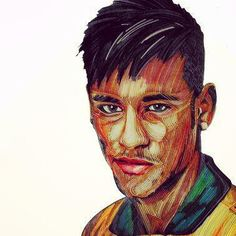 Portrait quilling----Neymar da Silva Santos Júnior By JieZhao Neymar, Type 1, Junior, Paper Quilling, Paper Cutting, Paper Art, Photos, People, Beautiful