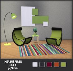 pqSim4: Ikea Inspired Set 1. Sims 4 Custom Content.