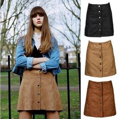 Cheap Skirts, Buy Directly from China Suppliers:   2015 Hot Faux Leather Empire Mini Skirt Autumn Winter Vintage Umbrella Skirt Large Size For Wom