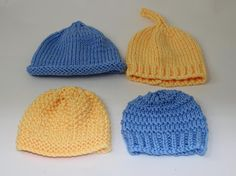 4 Easy Design ... by madmonkeyknits   Knitting Pattern - Looking for your next project? You're going to love 4 Easy Design Chunky Baby Hats by designer madmonkeyknits. - via @Craftsy