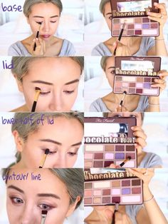 fall makeup tutorial too faced chocolate bar palette More