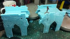The next piece for my Frostgrave table is a ruined bridge. Built using the same materials and techniques as the…