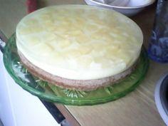 ananasový průsvitný dort
