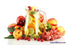 Infused Waters - Page 2 of 6 - Fruit & Herb Infused Water Recipes Super Healthy Recipes, Healthy Foods To Eat, Healthy Drinks, Diet Recipes, Eating Healthy, Infused Water Recipes, Fruit Infused Water, Infused Waters, Fruit Water