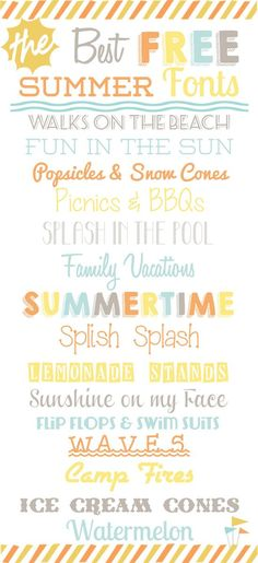 15 Best FREE Summer Fonts