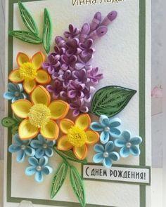#квиллинг #открытки #цветы #бумага #ручная работа #праздник #юбилей #деньрождения #подарок #витебск #quilling #postcards #handmade #paper #vitebsk