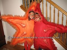 Awesome DIY Costume for Two Girls: Two Sea Stars... This website is the Pinterest of costumes