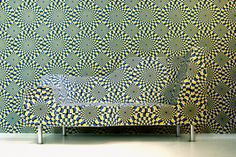 Take a look at this amazing Hypnose Sofa Illusory Furniture illusion. Browse and enjoy our huge collection of optical illusions and mind-bending images and videos. The Doors Of Perception, Funky Home Decor, Living Room Green, Fabric Wallpaper, Optical Illusions, Sofa Design, Portfolio Design, Home Interior Design, Interior Inspiration