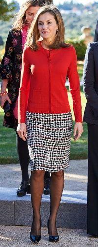 Doña Letizia during a meeting at Zarzuela Palace 30 Nov 2017