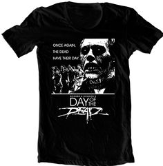 Authentic George Romero/'s DAY OF THE DEAD Horror Movie T-Shirt S M L XL 2XL NEW