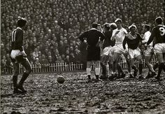 Manchester United vs Leeds United during the 1965 FA Cup semi-final