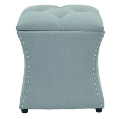 Fan out a stack of glossy magazines and arrange a display of blooms atop this button-tufted ottoman, perfect as stylish conversation area in your den or living room.