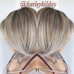 Balayage highlights with dimension. Color design by Karley
