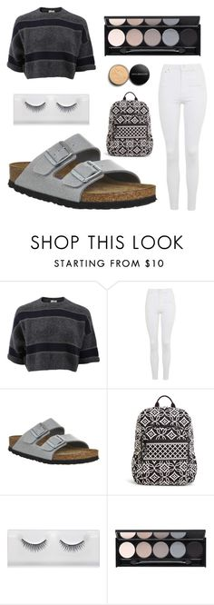 """Gray casual"" by small-as-an-elephant ❤ liked on Polyvore featuring Brunello Cucinelli, Topshop, Birkenstock, Vera Bradley, Witchery and Youngblood"