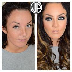 Makeover Dark Smokey Eyes Contouring Makeup