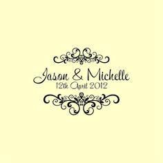 Custom Wedding Stamp  Custom Rubber Stamp  by mycustomstamps, $5.00