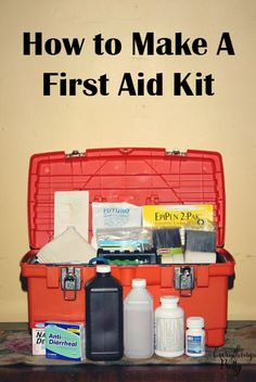 Must-Haves for Your Survival First-Aid Kit First Aid Kit Checklist, Diy First Aid Kit, Basic First Aid, First Aid Tips, Camping First Aid Kit, Emergency Preparedness Kit, Emergency Preparation, Emergency Supplies, Wilderness First Aid