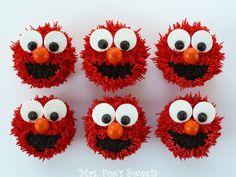 Mrs. Fox's Sweets: Elmo Cupcakes