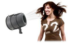 The Airzooka is the fun gun that blows a harmless ball of air towards any object! Balls, Guns, Weapons Guns, Revolvers, Weapons, Rifles, Firearms