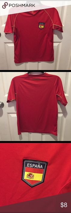 Spain (España) Wicking T-shirt Kids size Spain t-shirt with patch Shirts & Tops Tees - Short Sleeve