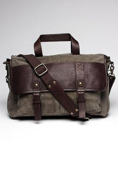 John Varvatos Work Bag, It's basically everything I want a bag to be. John Varvatos, Mens Work Bags, Jack Threads, Canvas Leather, Leather Bag, Well Dressed Men, Bag Accessories, Purses And Bags, Satchel
