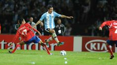 Argentina 3 Costa Rica 0 in 2011 in Cordoba. Angel Di Maria comes through to score his 1st goal for Argentina in Group A at Copa America.