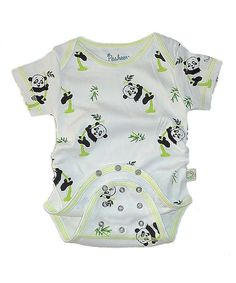 Look what I found on #zulily! American Posh Green Panda Organic Short-Sleeve 3-in-1 Snap Bodysuit - Infant by American Posh #zulilyfinds
