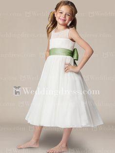 bcacfc43e9c Princess Flower Girl Dress with Sash and Bow Fl200. Princess Flower Girl  DressesIvory ...