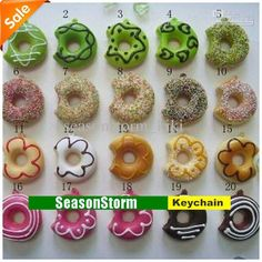 Wholesale Kawaii Squishy Donut Phone Charms / Squishies Cell Phone Straps (SC-02), $0.71/Piece | DHgate