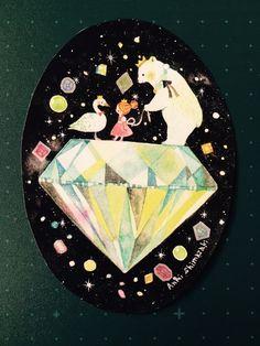 イラストカード(ダイヤモンド) - ANZUNOMI - BOOTH(同人誌通販・ダウンロード)