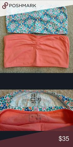 NWOT Bandeau Bundle Nollie Orange Blue Large NWOT Bandeau Bundle of 2 Nollie/PacSun Large Orange Orange & Blue Mosaic Geometric  Great for layering under oversized sweaters and tanks  Retail $25 each  *Tags Nollie, Pacific Sunwear, PacSun, Bandeau, Bralette, Bra, Nollie, Moroccan Print, Mosaic Print, Geometric, Aztec, Coral, Green, Blue, Kimchi Blue, Anthropologie, Urban Outfitters, American Eagle, Abercrombie & Fitch, Hollister, Gap, Guess, Roxy, Billabong, Volcom, Zumiez, Buckle Nollie…