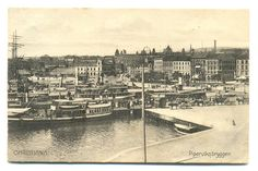 Christiania, Piperviksbryggen. Oslo. Oslo, Kingdom Of Sweden, Trondheim, Photo Craft, Old Postcards, Picture Photo, Norway, Paris Skyline, Greece
