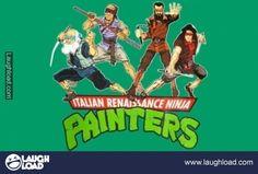 Michealangelo, Donatello, Rafael, and Leonardo!!
