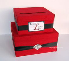 Card Box Wedding Card Box Money Holder Gift by LaceyClaireDesigns, $89.50