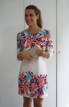 vestidos rectos combinados casuales - Buscar con Google