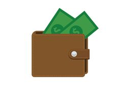 Flat Leather Wallet Free Vector Icon