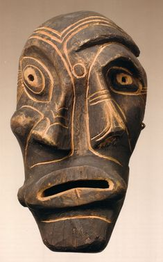 Masque kiiappak, Groenland, inuit, début XXe, Musée du Quai Branly Paris