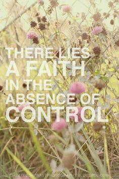 Faith in surrendering