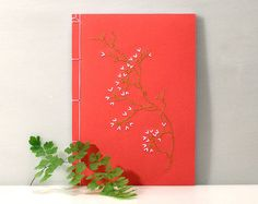Koi Fish Journal. Embroidered Notebook. Koi Journal. Japanese