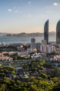 Xiamen, China   Xiamen, a port city which translates to 'Gate of China,' was voted the country's cleanest city and is known for its natural beauty and the Nanputuo Temple, featuring the world's oldest Chinest Buddhist manuscript.
