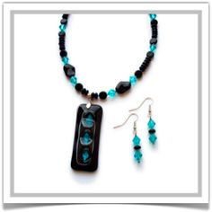 """One-of-a-Kind """"Midnight"""" Jewelry Set - Designed by Belle Bijou:  http://www.bellebijoujewelry.com/store/detail/index.html#cid=48957"""