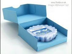 Yankee Candle Tart Box Tutorial (single sheet of cardstock) | Stampin' Up! UK Demonstrator Pootles!