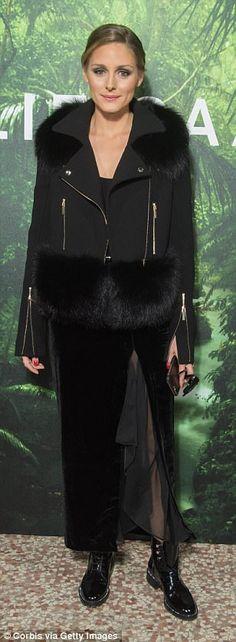Glam: Olivia Palermo looked phenomenal on the night