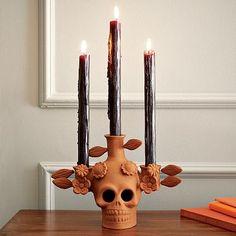 This ofrenda skull is amazing. A must have for my b-day/dia de los muertos celebracion! Love! Go West Elm.