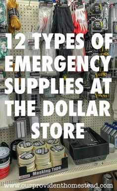 12 Types of Emergency Supplies At The Dollar Store 12 Types of Emergency Supplies At The Dollar Store Related posts:Obscure Bushcraft Skills You Should Wilderness Survival Tips That Could Save Your LifeHow to. Survival Life Hacks, Survival Items, Survival Supplies, Emergency Supplies, Survival Prepping, Survival Gear, Survival Skills, Emergency Kits, Survival Quotes