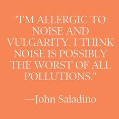 I'm allergic to noise