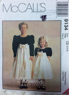 McCall's Fashion for Children Girls formal dress by Vntgfindz